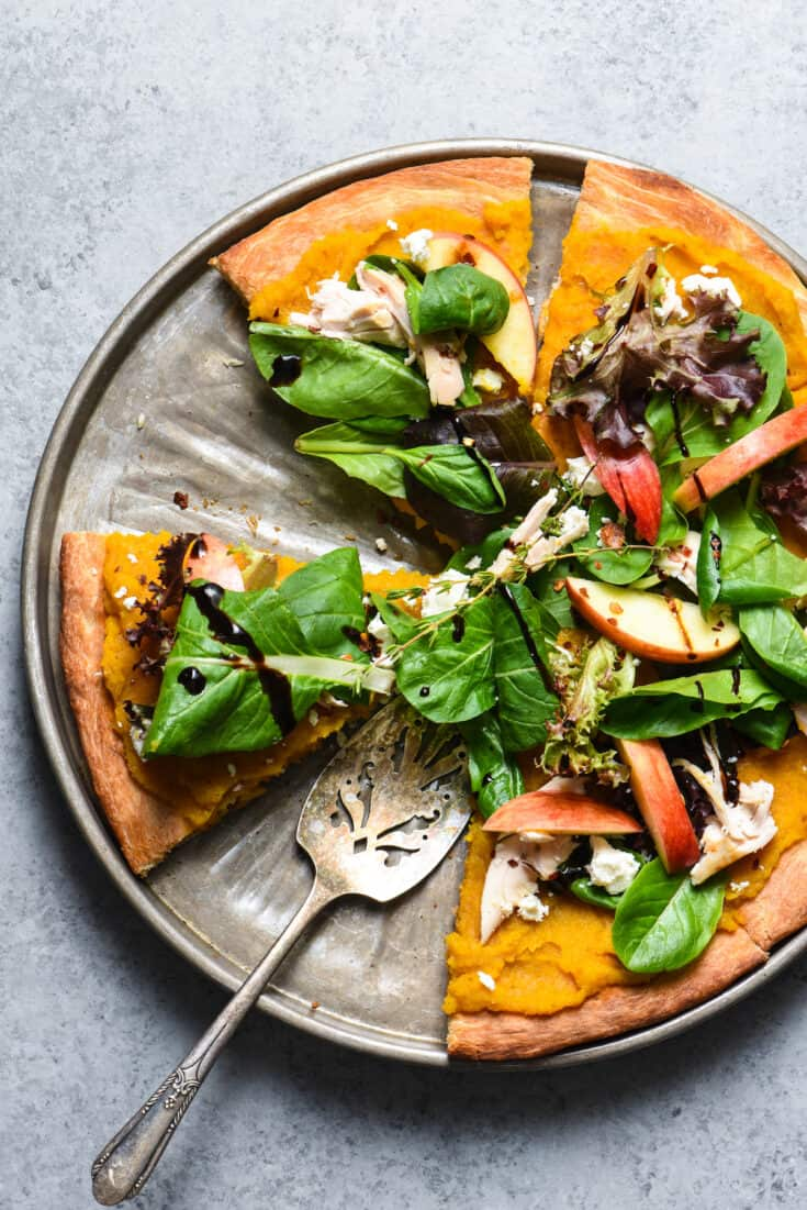 Fall Harvest Salad Pizza