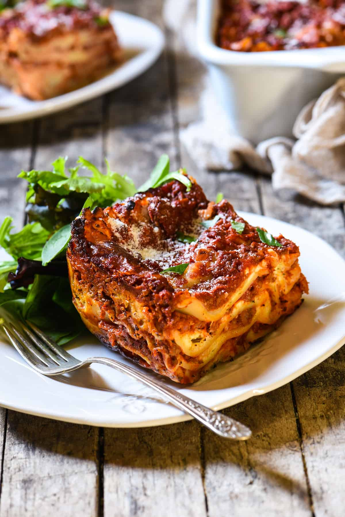 Nice Lasagna With Cottage Cheese   A Classic Midwestern Noodle Casserole. Layers  Of Rich Meat Sauce