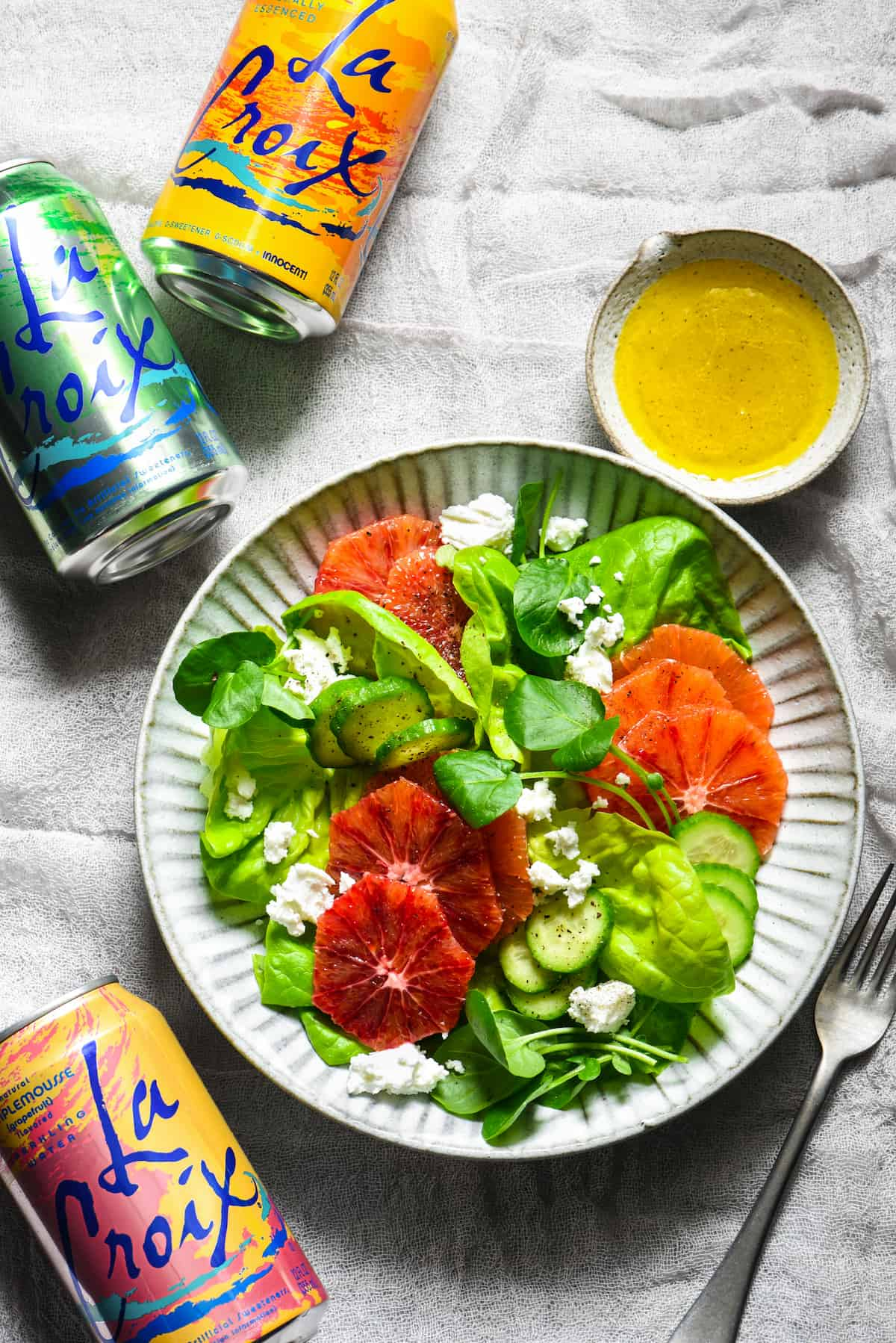 Take Your LaCroix Obsession To The Next Level With This LaCroix Salad  Dressing   A Light