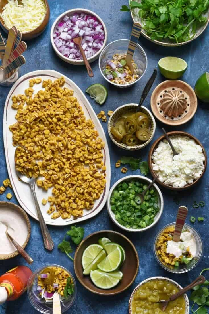 Mexican Street Corn Salad (Elote) Bar