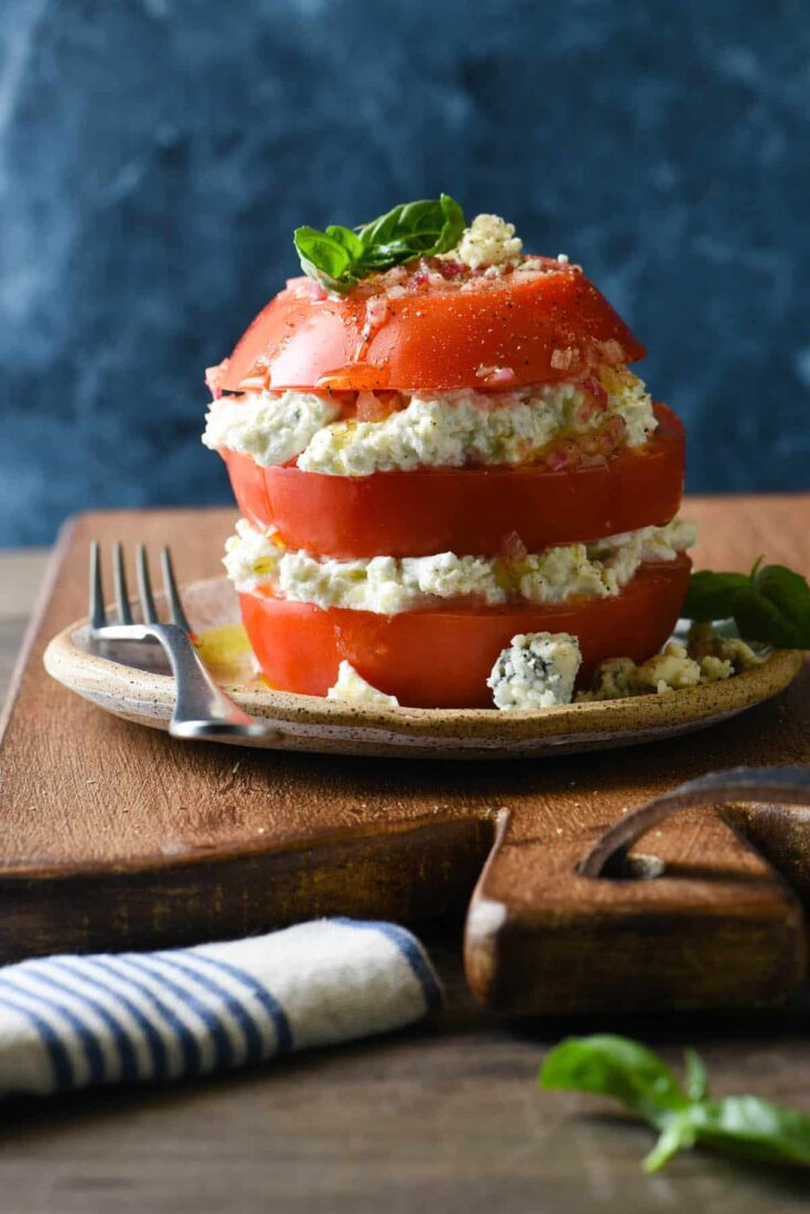 Tomato & Blue Cheese Salad Stack