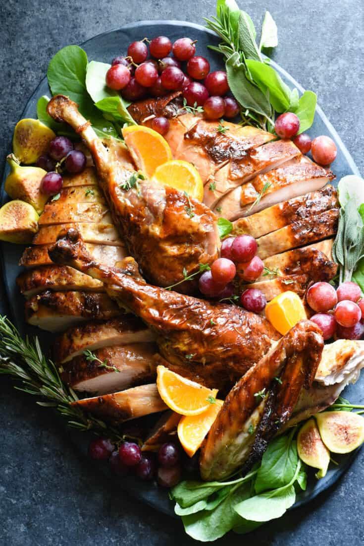 Maple Bourbon Glazed Turkey