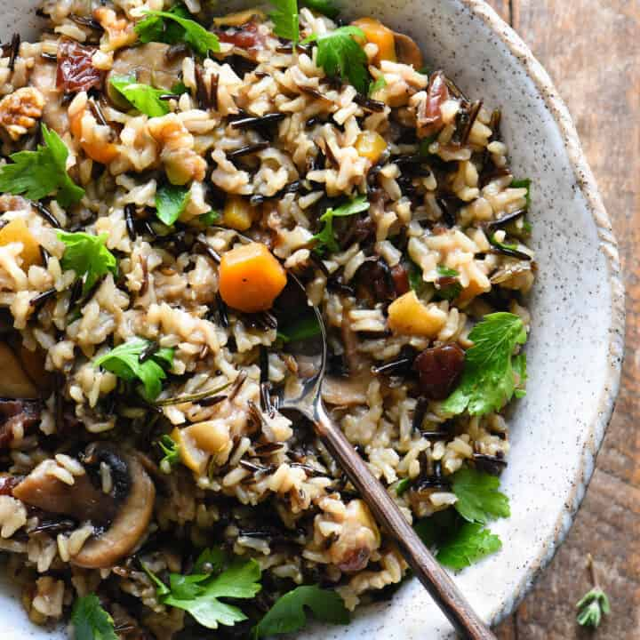 Thanksgiving Rice Pilaf with Cranberries & Pears