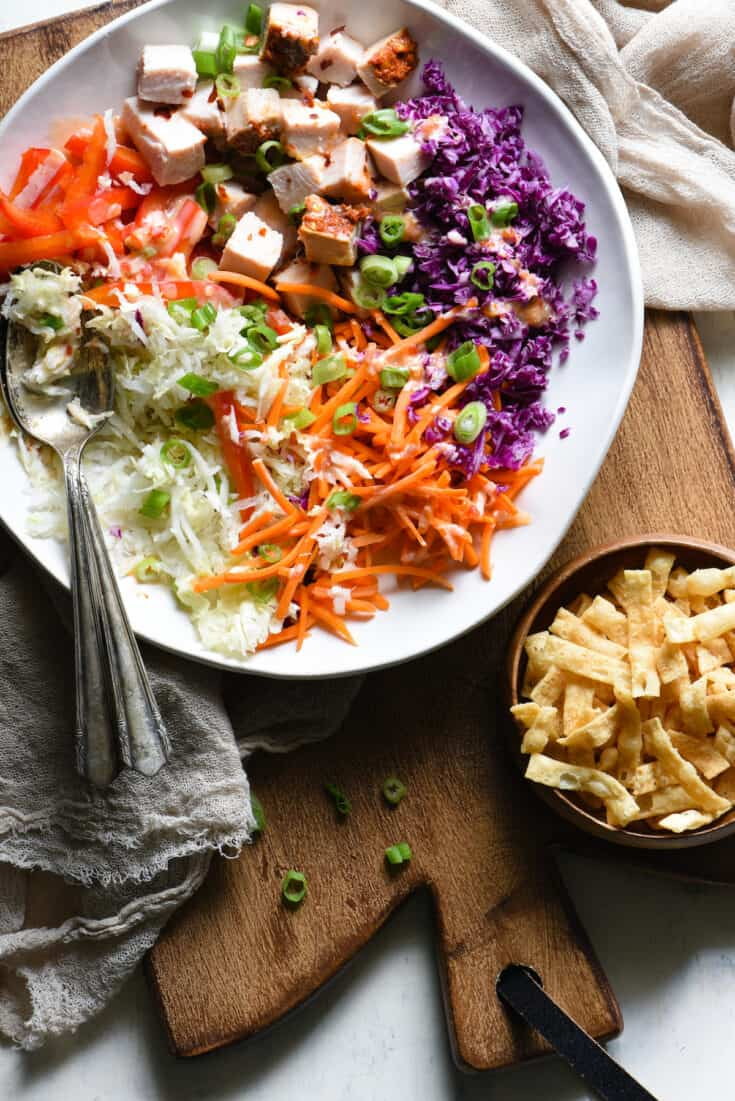 Turkey Egg Roll Salad