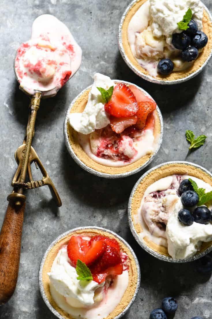 Mini Ice Cream Pies