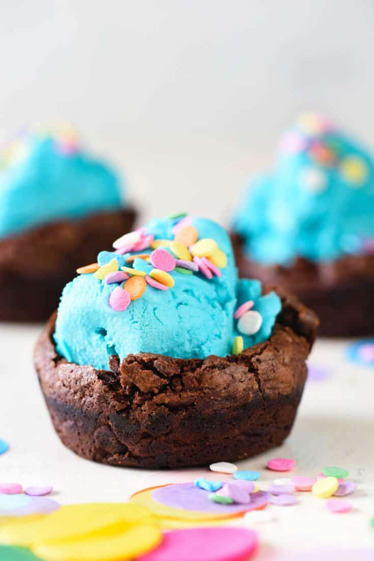 Brownie Bowls for Ice Cream